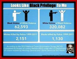 There are clearly racist lies put out by a racist cop named Holder