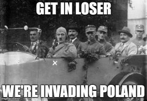 nazi invading poland