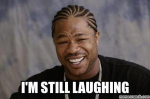 laughing x