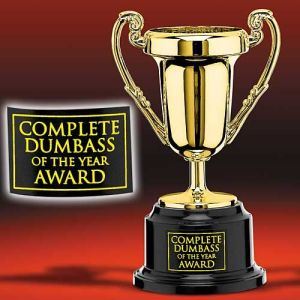 dumb ass award