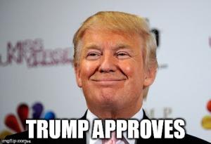 trump approves