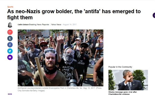 anti-fa yahoo claims antifa rises to fight nazis