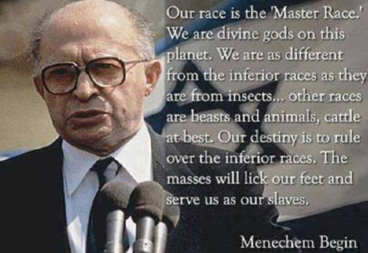 menachem begin prime minister of israel master race