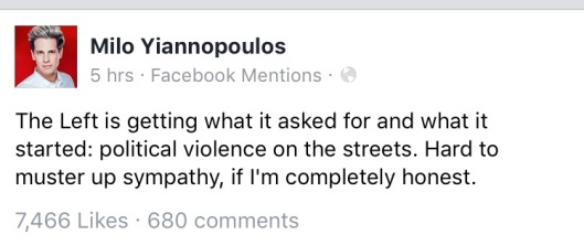 milo left wanted violence